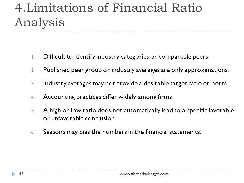 Financial Ratios Analysis - Ppt Download
