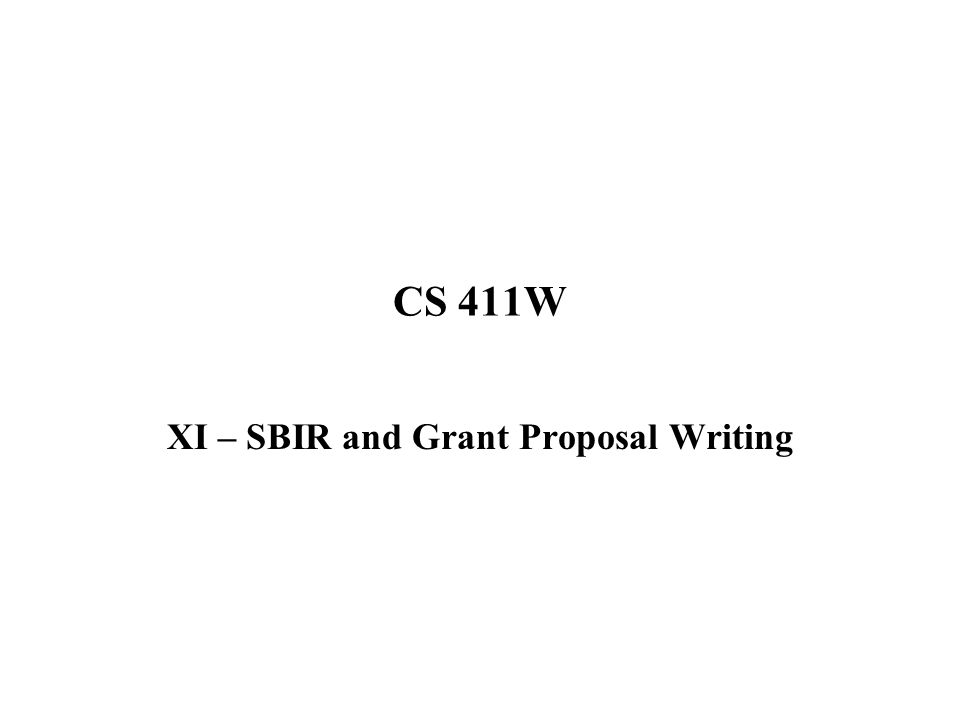 Xi Sbir And Grant Proposal Writing Ppt Video Online Download