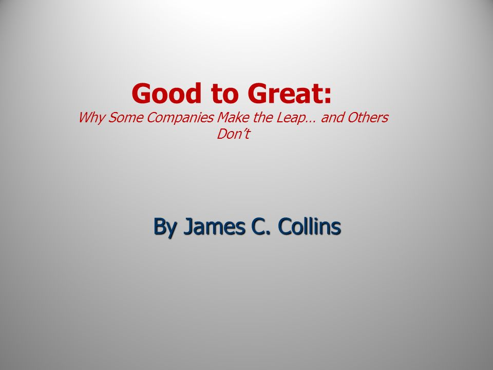 good to great why some companies pdf