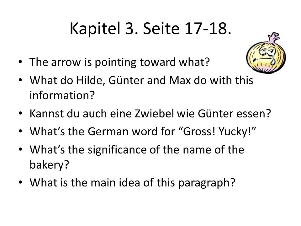 Kapitel 3. Seite 17-18. The arrow is pointing toward what