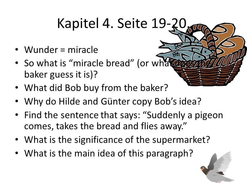 Kapitel 4. Seite 19-20. Wunder = miracle