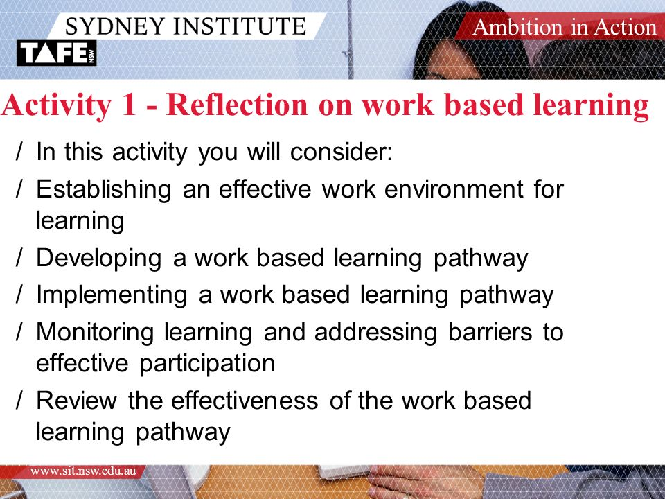 how to identify your learning needs to your work role