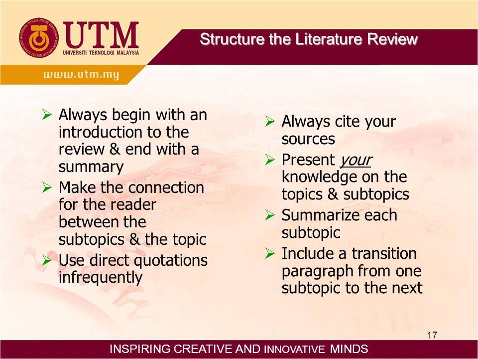good scientific literature review topics WriteOnline ca