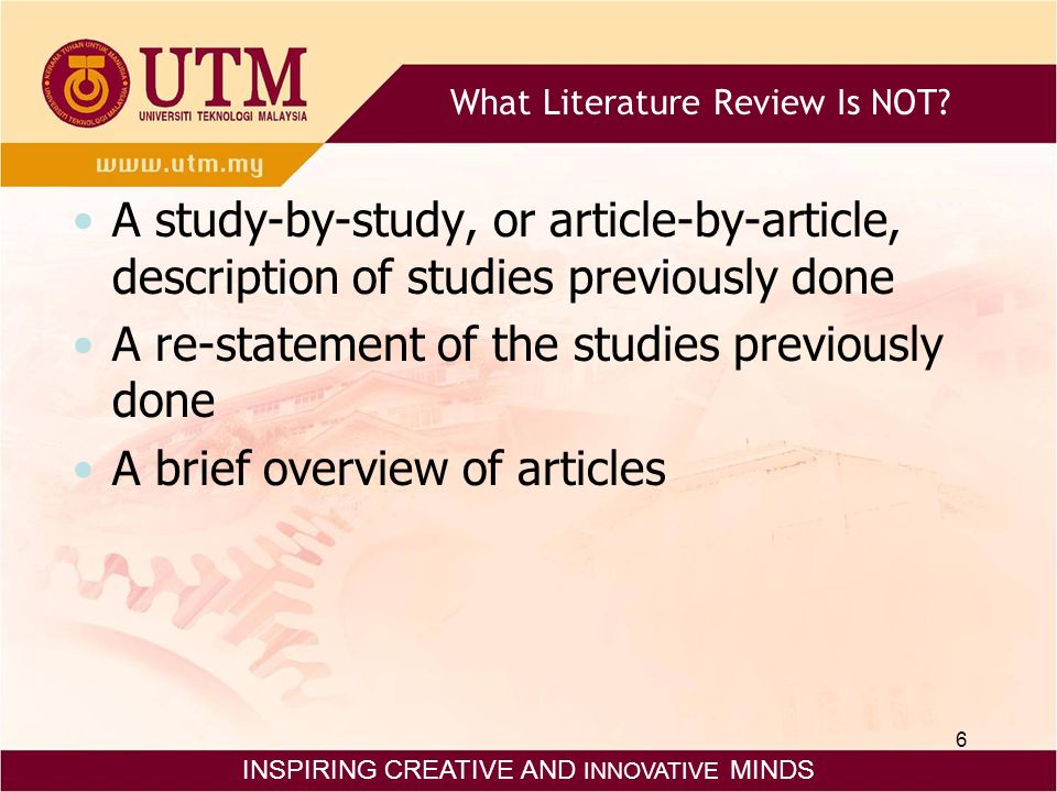 why are literature reviews important in research What are some reasons why it is important to conduct a review of the literature as part of a research project.