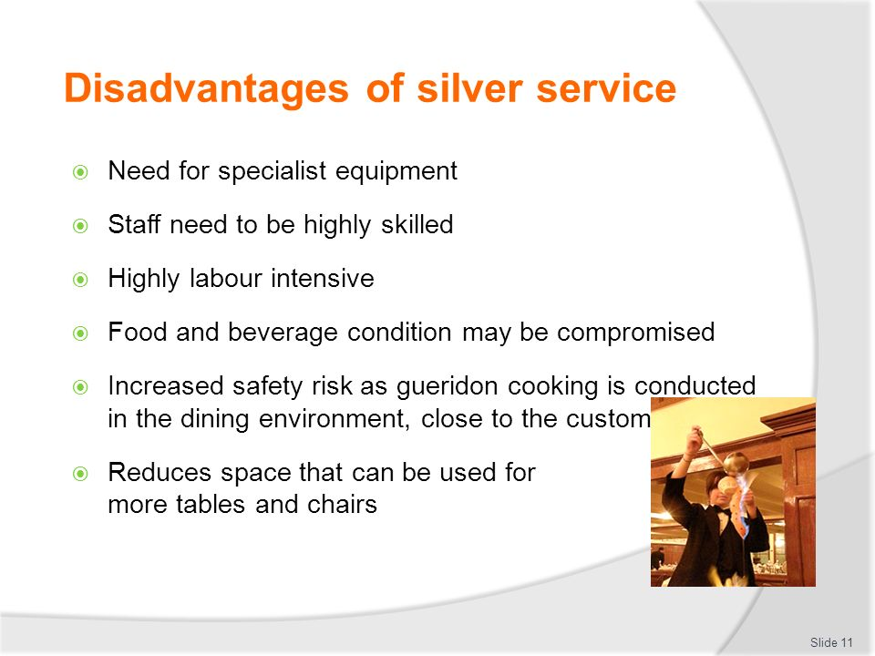 how to serve silver service
