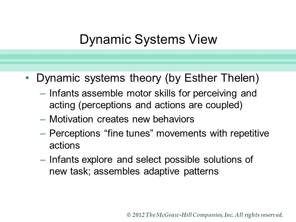 dynamic systems theory and psychodynamic world view The nonlinear dynamical systems theory (ndst), which has already undertaken a paradigm shift in several scientific fields, offers key concepts and a common language which can provide a unified.