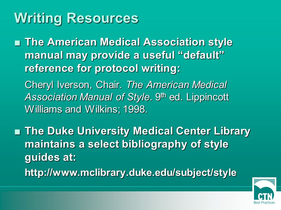 american medical association manual of style