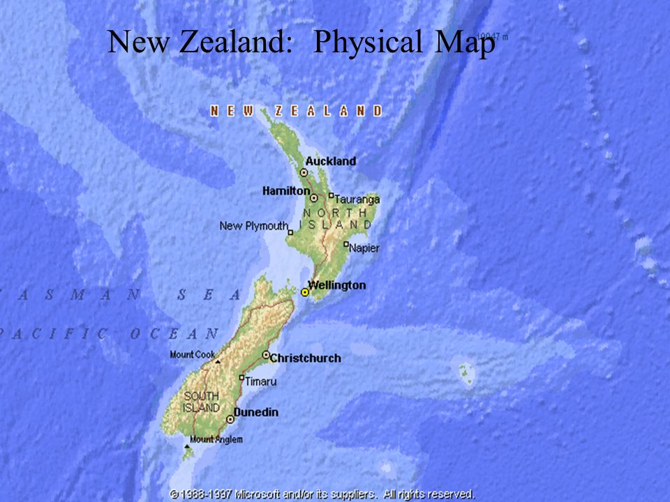 Australia And New Zealand Ppt Download - New zealand physical map