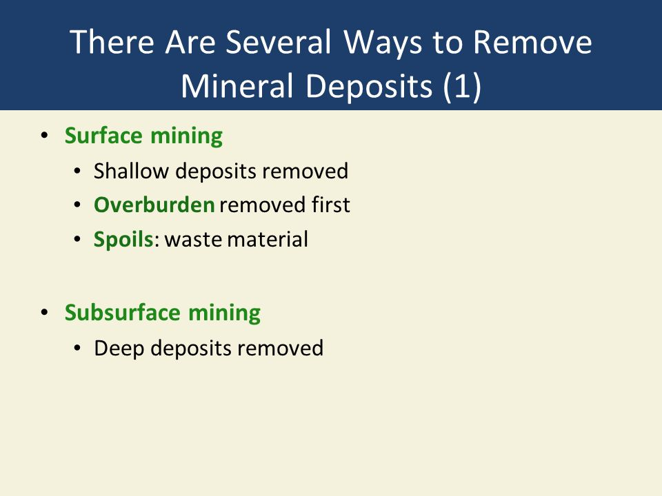 Chapter 14 Geology and Nonrenewable Mineral Resources - ppt video ...