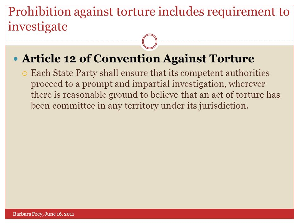 the convention against torture essay The treaty, called the optional protocol to the convention against torture ( opcat), requires participating nations to create mechanisms to prevent torture from this collection of essays suggests that american counterterrorism policies in the bush years were immoral, unwise, and un-american, and offers considerable.