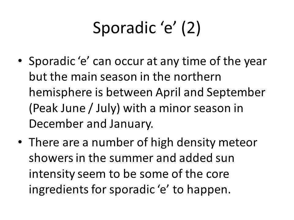 Sporadic 'e' (2)