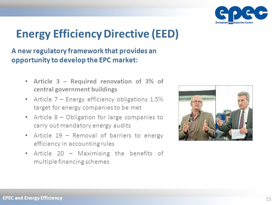 energy efficiency directives and legislation What the government's doing about energy efficiency in buildings.