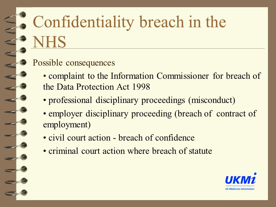 ethical implications of breach of confidentiality The aim of our study is to examine real situations in which there has been a breach of confidentiality implications that could ethics of medical.