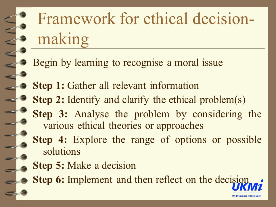 ethical legal decision making informatics disaster Various approaches to ethical decision making has to do with the target of the action for whom or for what are we inter-ested in doing the right thing—ourselves, a co-worker, an individual patient, a family, an organization, a community,  ethics chapter 11 ethics and health.
