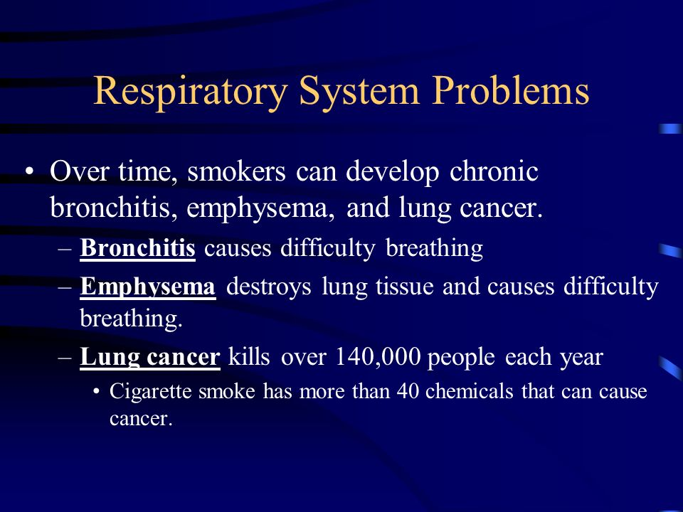 Respiratory problems caused by vehicals