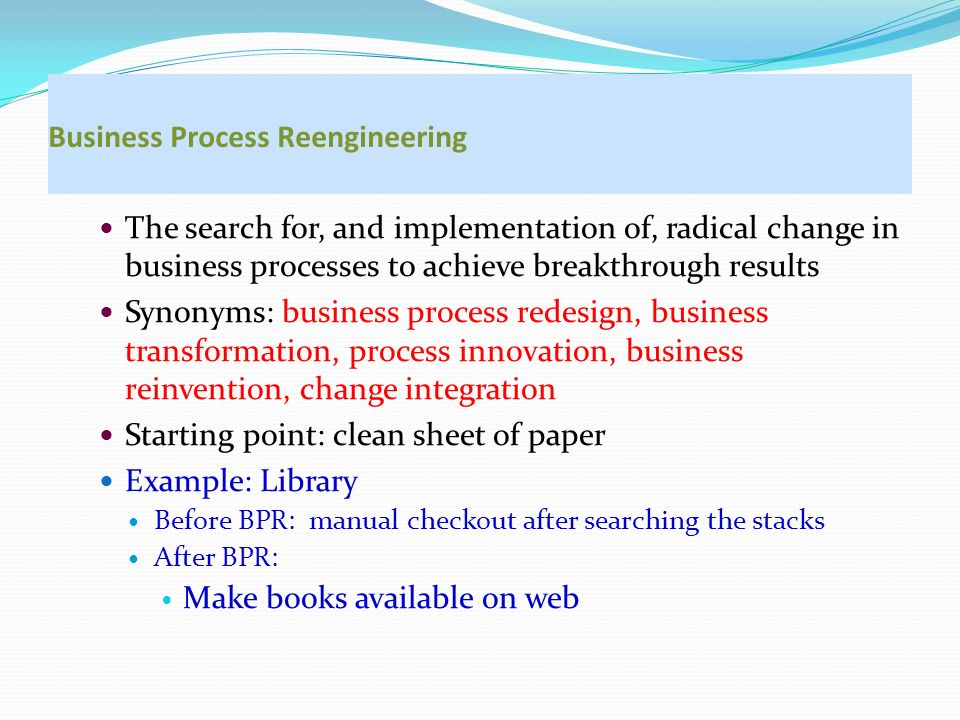 business proces redesign