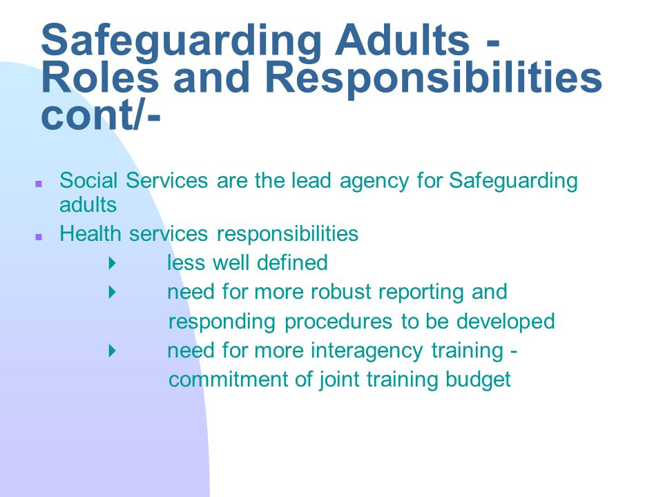 safeguarding and protection of vulnerable adults Safeguarding vulnerable adults all adults have the right to be safe and to live a life free from abuse  gp etc) or the safeguarding and protection teams.