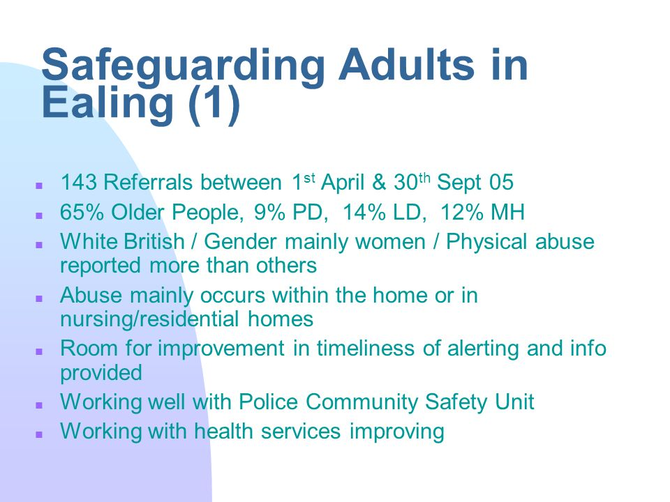 Safeguarding Adults In Ealing Ppt Video Online Download