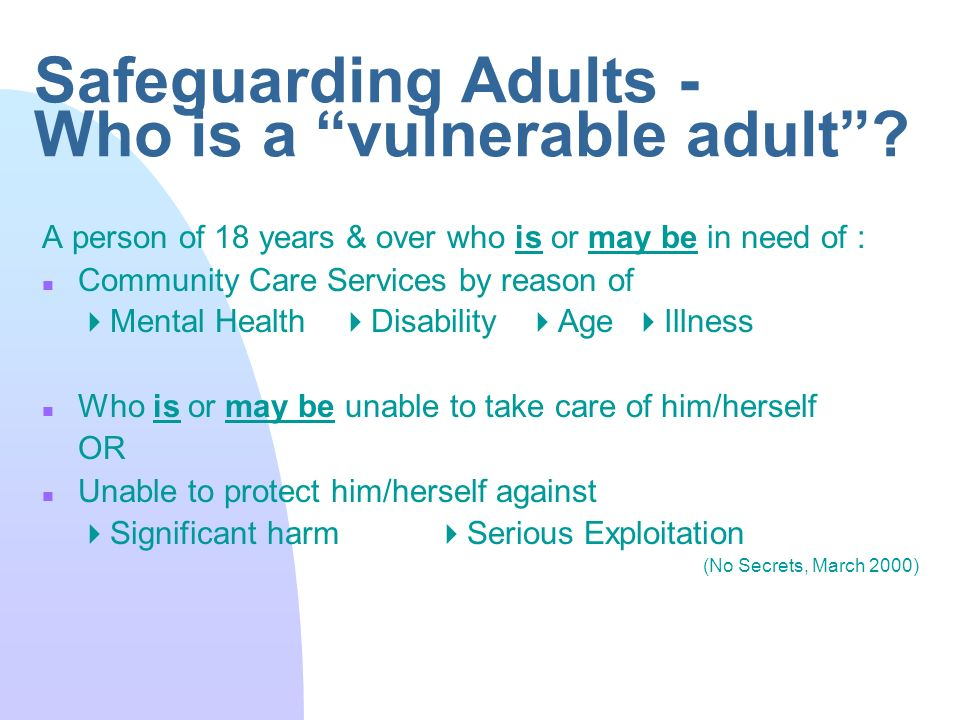 safeguarding adults from abuse uk Find out more at wwwnmc-ukorg/safeguarding a suite of short films from the nursing and midwifery council to help safeguard adults from abuse if you don't.
