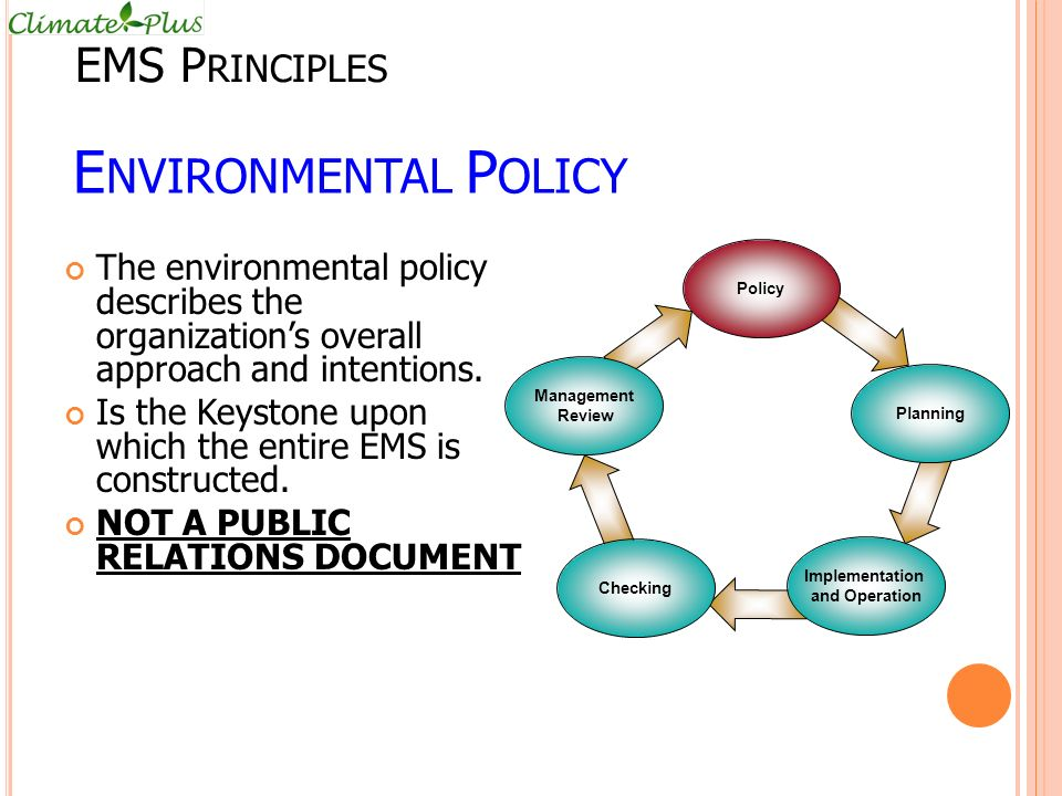 Environmental Policy EMS Principles