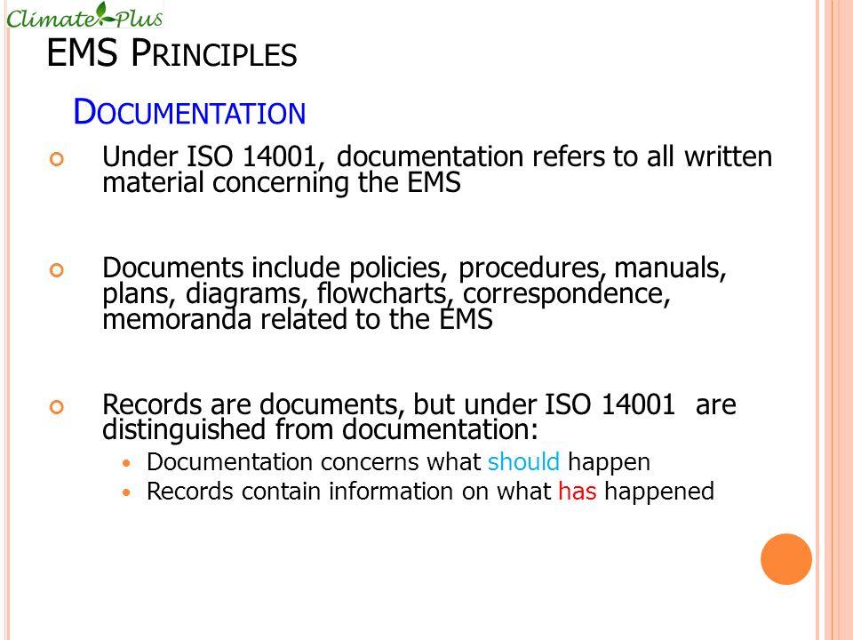 EMS Principles Documentation