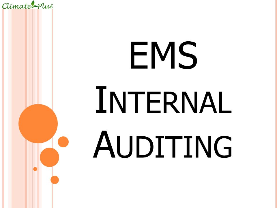 EMS Internal Auditing