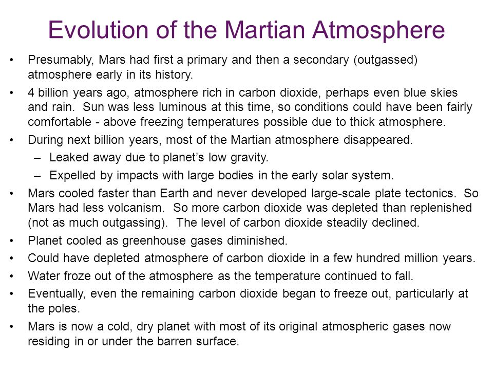 Evolution of the Martian Atmosphere