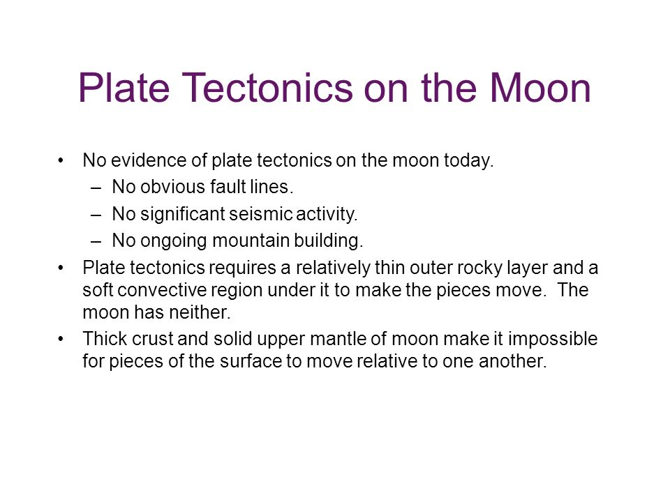 Plate Tectonics on the Moon