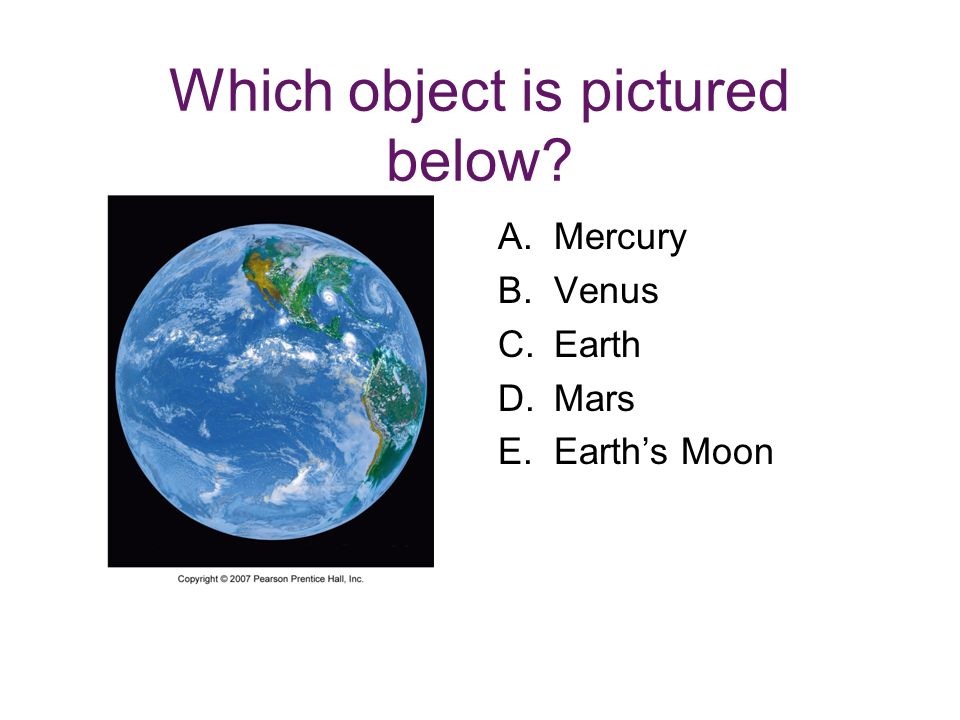 Which object is pictured below