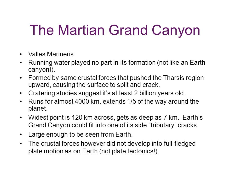 The Martian Grand Canyon