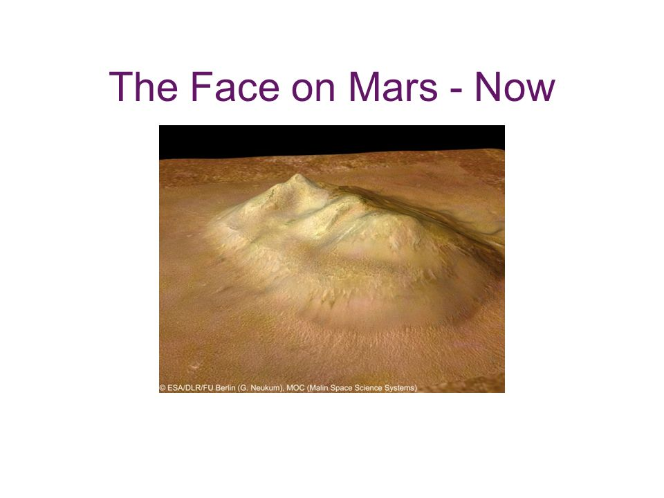 The Face on Mars - Now