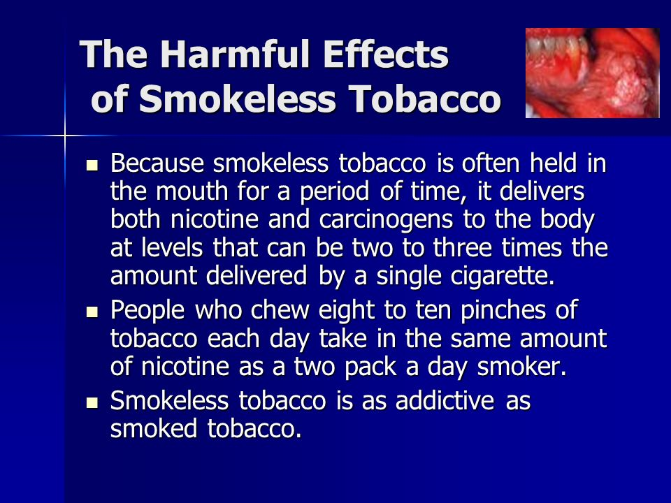 Health Risks of Smokeless Tobacco