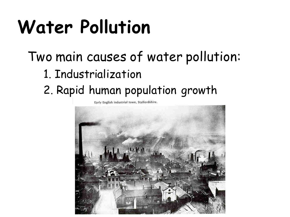 relationship of population and water pollution