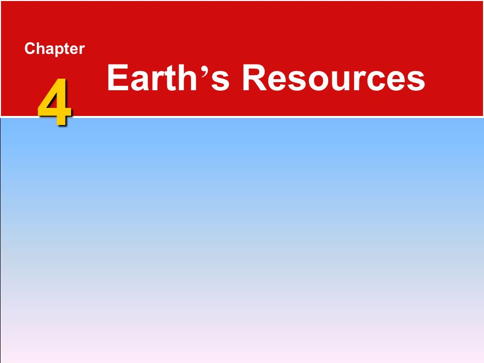 Chapter 4 Earth's Resources