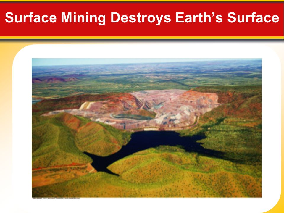 Surface Mining Destroys Earth's Surface