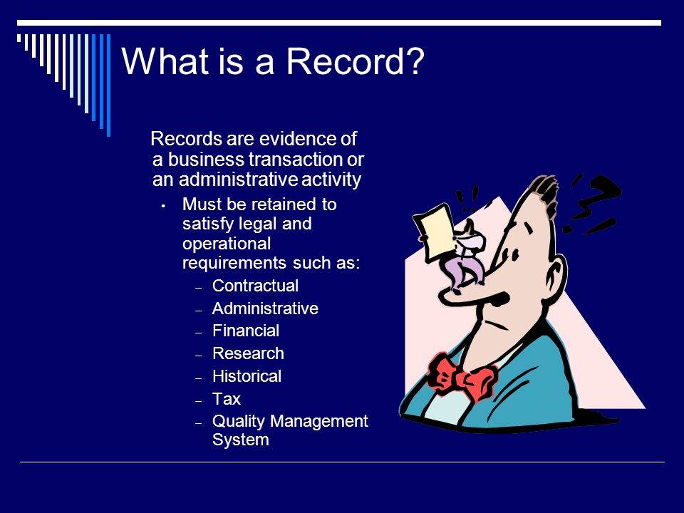 pttls record management evidence of This is a collection of some of the more frequently asked questions we on records management of records and provide evidence that their.