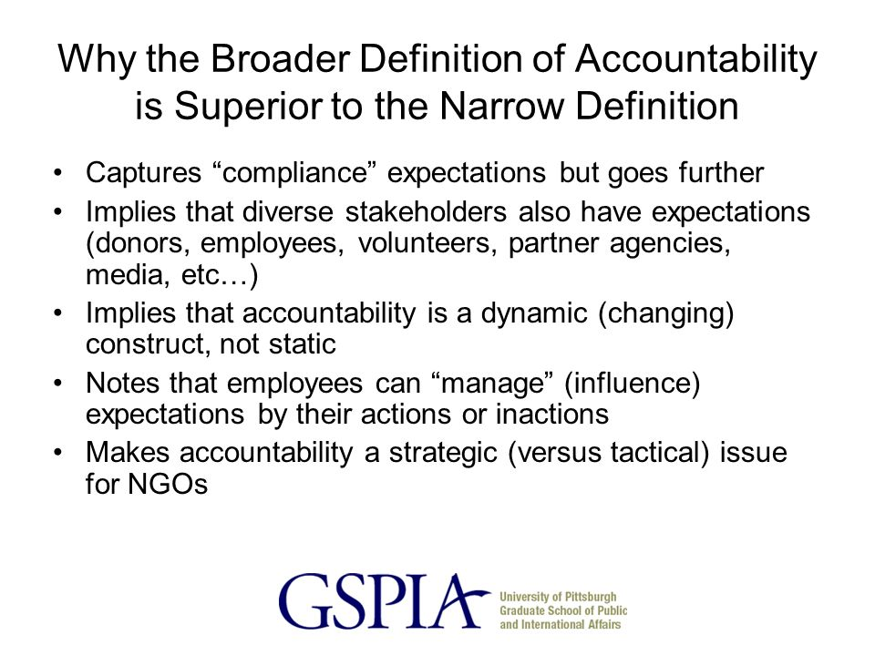 """definition of the military term accountability A simple definition of """"accountability"""" is a willingness or obligation to accept responsibility no one more perfectly illustrates that definition than the men and women who have stood in harm's way to protect and defend our nation."""