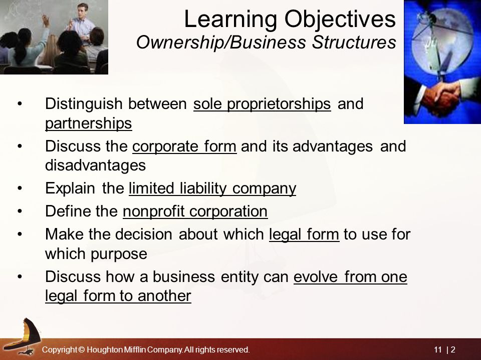 Choosing the Legal Form of Organization - ppt video online download