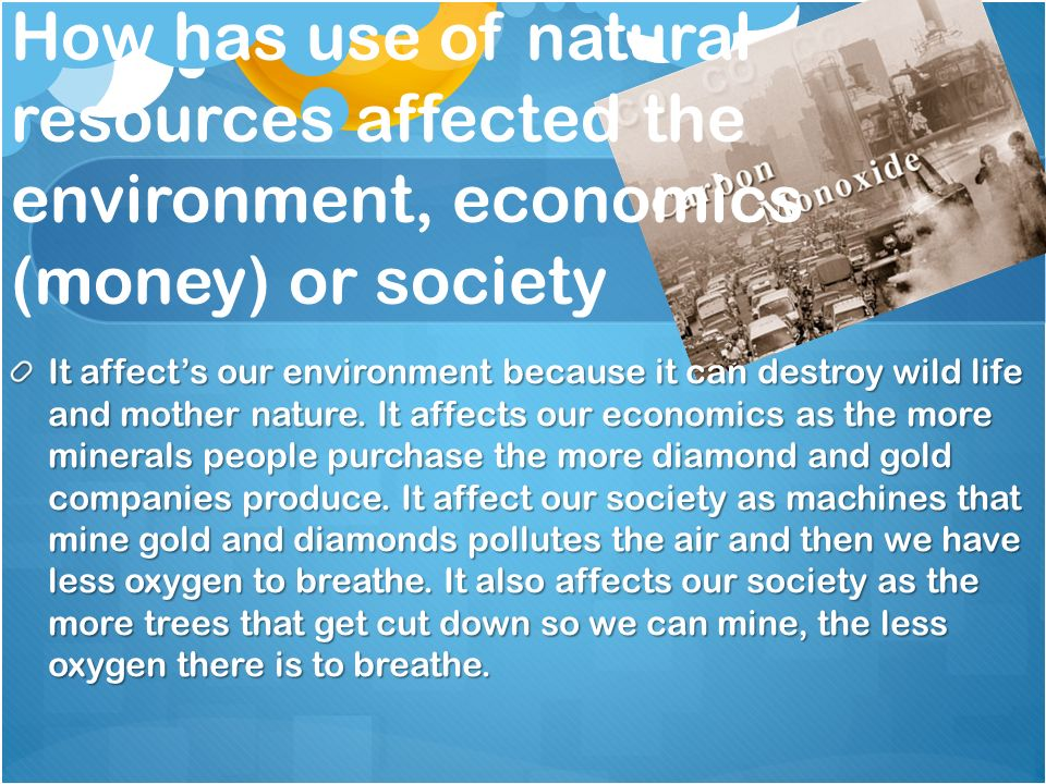 society and environment resources The goal of environmental sustainability is to conserve natural resources and to develop alternate sources of power while reducing pollution and harm to the environment for environmental sustainability, the state of the future – as measured in 50, 100 and 1,000 years is the guiding principle.