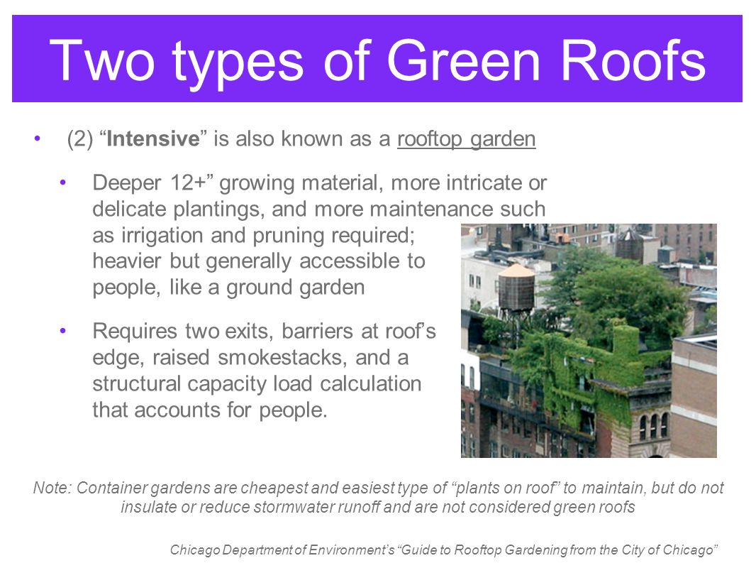Green Roofs By Walter Tersch April 27 Ppt Video Online