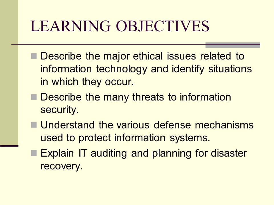 ethical problems associated to information technology essay Ethical issues in cyberspace and it society  and what are the social impacts of information technology (it)  ethical issues in computing information technology.