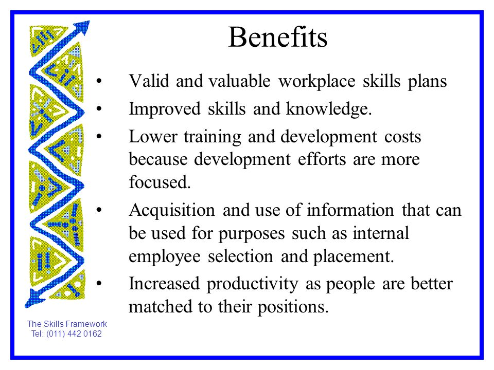 benefits of skill and knowledge development pdf