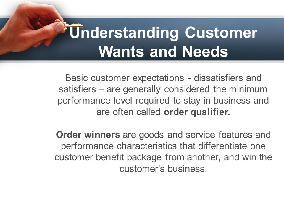 understanding customer needs and expectations pdf