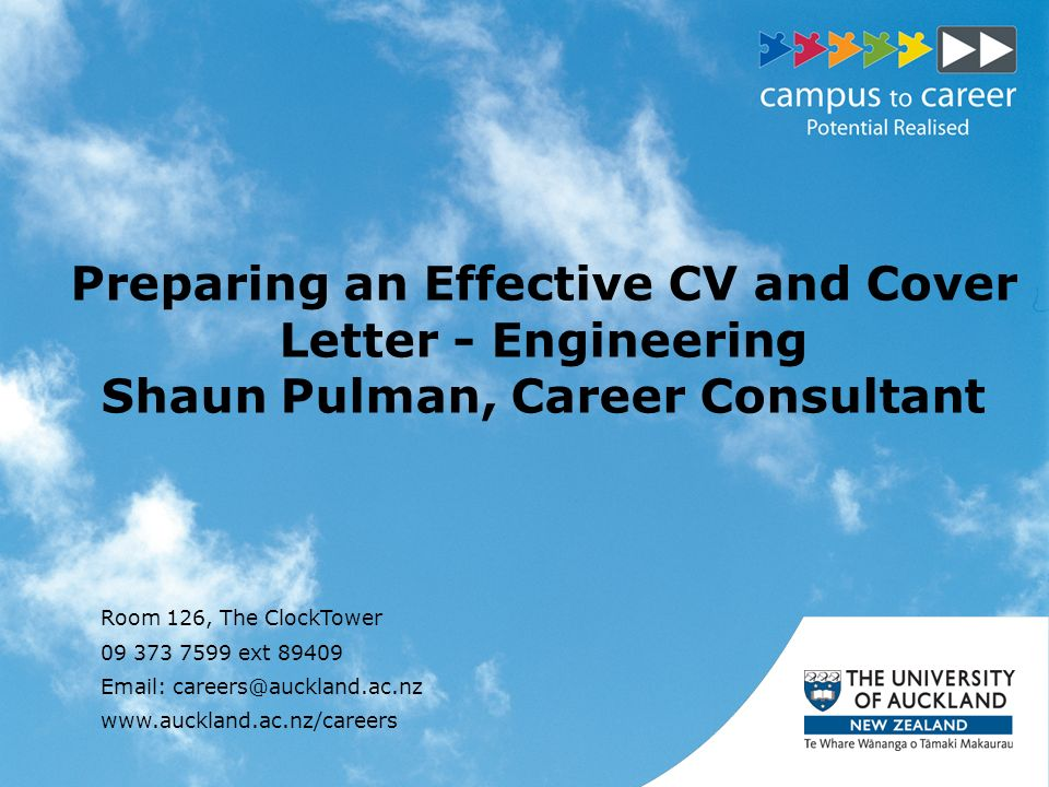 Preparing An Effective CV And Cover Letter   Engineering