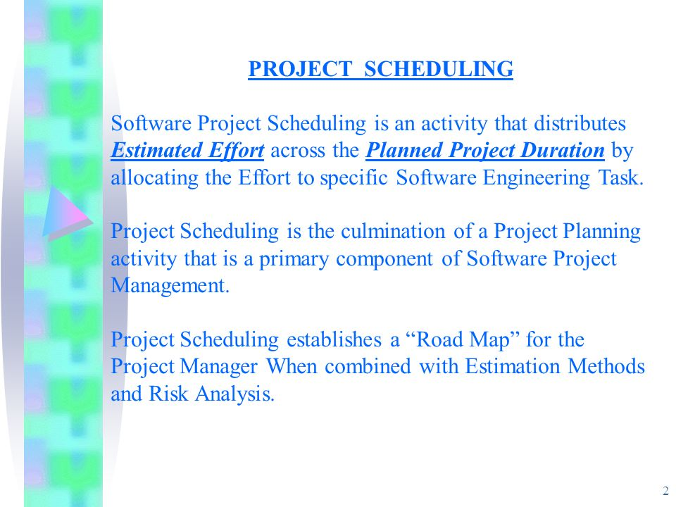project scheduling lecture notes ppt download