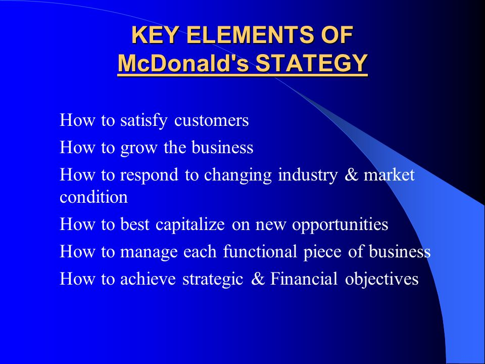 McDonald's – Business Strategy in India