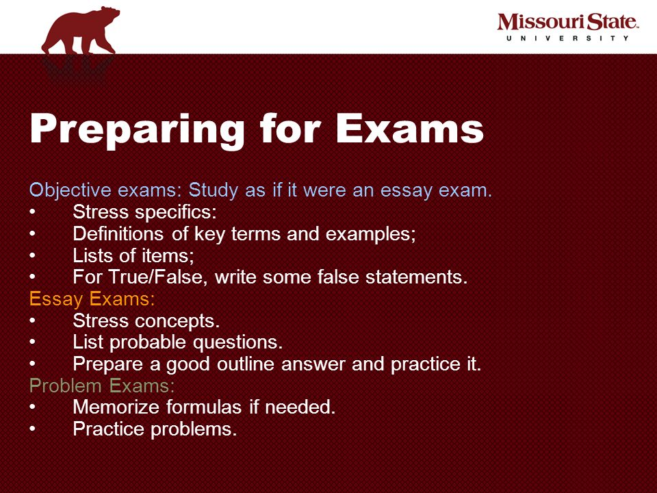 preparation of exams essay Free official sat & act practice tests prepare for the sat or act online by taking these free sample practice tests official act sat test 1 essay sat test 2.