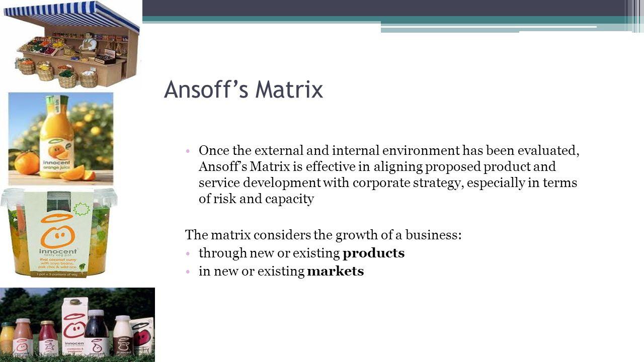 ansoff matrix news corporation