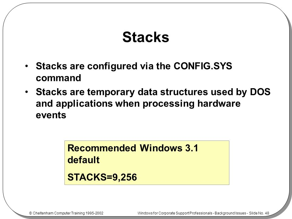 how to run config sys