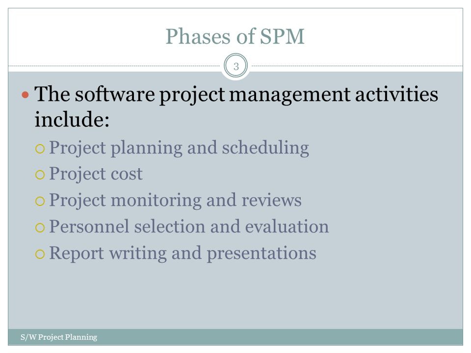 report writing project management